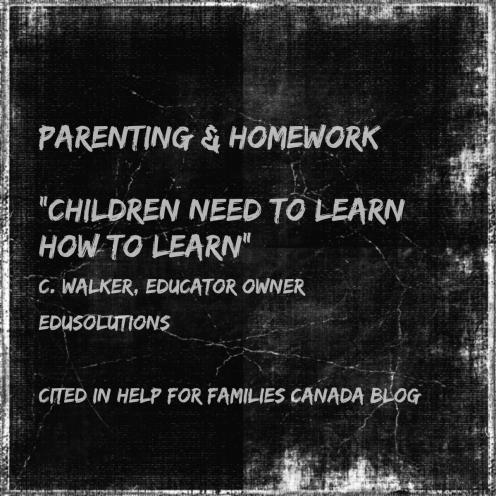 Parenting Homework Advice Walker Quote