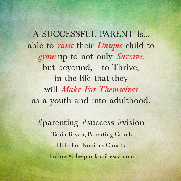 Successful Parent Quote - Tania Bryan Parenting Coach